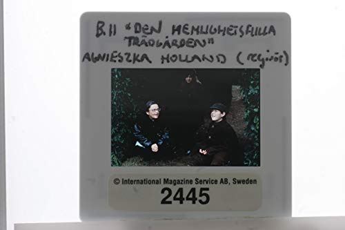 Slides photo of Agnieszka Holland and Andrew Knott on the set of the film