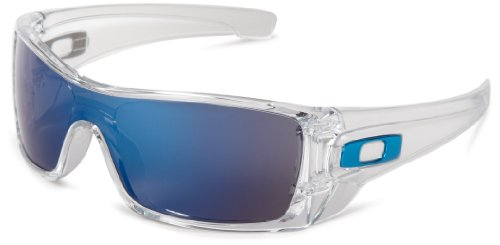 Oakley Men's Batwolf Rectangular Sunglasses,Clear Frame/Ice Iridium Lens,one size (Oakley Two Face Clear Lenses)