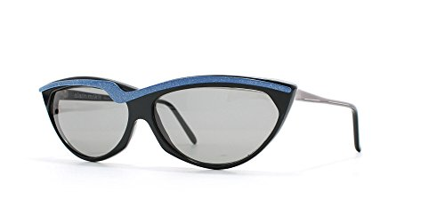 Alain Mikli 84 098 1011 Black and Blue Authentic Women Vintage - Alain Sunglasses Mikli