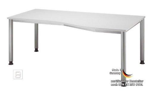 B Rotisch Schreibtisch Arbeitstisch Lichtgrau 180cm H