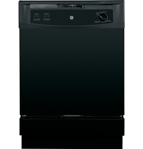 GE GSM2200VBB Spacemaker 24″ Black Full Console Dishwasher – Energy Star