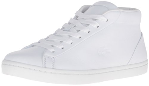 Lacoste Women's Straightset Chukka 316 1 Caw Fashion Sneaker, White, 8 M US