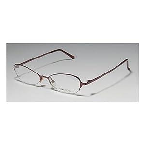 Vera Wang V100 Womens/Ladies Rx Ready Sleek Designer Half-rim Eyeglasses/Eye Glasses (47-17-130, Wine)