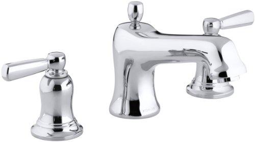 - KOHLER K-T10592-4-CP Bancroft Deck-Mount Bath Faucet Trim, Polished Chrome