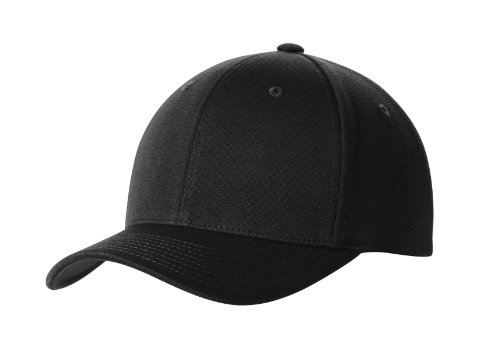 Premium Flex Fit Hat - High Performance Cool & Dry Baseball Caps in 7 Colors Black ()