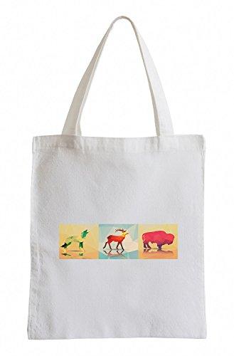 Raxxpurl vettore animali dellAmerica Fun sacchetto di iuta