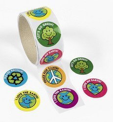 classroom set of stickers for Earth Day activities