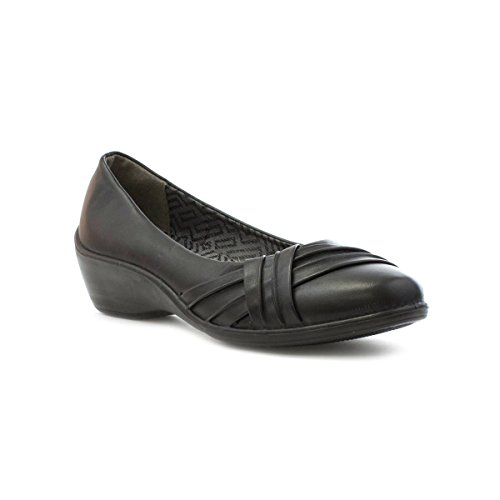 Soft-Lites Womens Black Pleated Casual Shoe Black