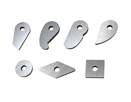 Robert Sorby Turnmaster Complete Set of 7 M2 High Speed Steel Cutters Square, Diamond, Round, French Curve, Teardrop, Mushroom and Dovetail