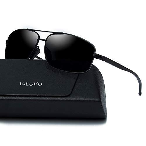 rectangular polarized sunglasses for men square retro