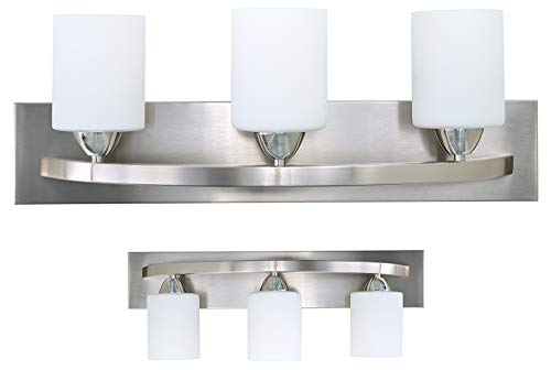 SUNSHINE SHADOW Vanity 3 Globe Lamp Fixture Alabaster Glass Cover (3 Lights) ()