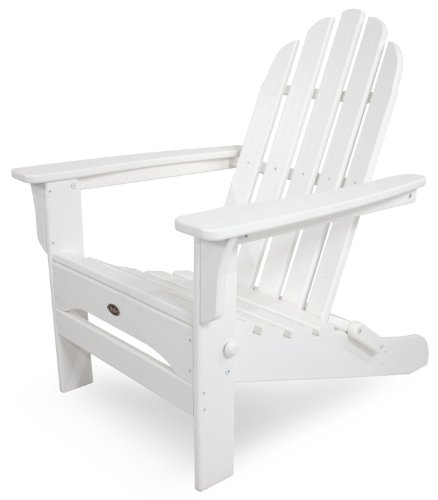 - Trex Outdoor Furniture Cape Cod Folding Adirondack Chair, Classic White