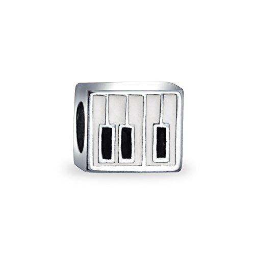(Music Student Teacher Musician Piano Keys Charm Bead For Teen For Women 925 Sterling Silver Fits European Bracelet)