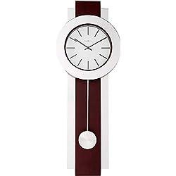 Howard Miller Bergen Wall Clock 625-279 - Modern & Round with Pendulum & Quartz Movement