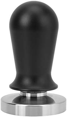 コーヒータンパープレスツール、家庭用キッチン、カフェ、レストラン、バーなどのための黒色ステンレススチールフラットベース(58MM)