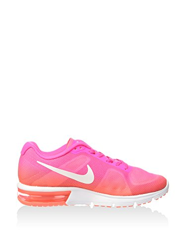 NIKE Women's WMNS Air Max Sequent, Pink Blast/White-Bright Mango, 6 US