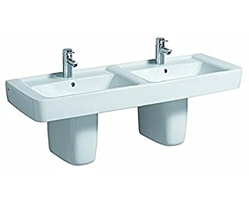 Keramag Doppelwaschbecken Renova Nr 1 Plan 122130 130x48cm Weiß