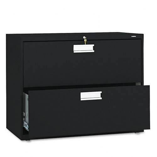 The HON Company H682.L.P HON682LP HON 2-Drawer Cabinet-600 Series Lateral Legal or Letter File Cabinet), 2-Drawer Black
