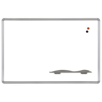 - Porcelain Markerboard w Presidential Frame (2 ft. W x 1.5 ft. H/Porcelain) by Best-Rite