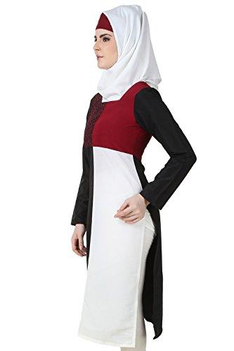 MyBatua Multi Kashibo Hermosa Túnica Bordada Islámica para Mujeres KRF-127