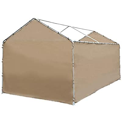 Abba Patio 10 x 20-Feet Carport Replacement Top Canopy Cover for Garage Shelter with Ball Bungees