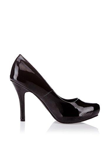Zapatos de Tacón de Pintura sintética de Andrea Conti schwarz