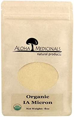 Aloha Medicinals – Immune Assist Micron - Super Extract – Cordyceps,Reishi,Agaricus Blazei,Maitake,Shiitake,Turkey Tail - Mushroom Supplement – Immune Support – Certified Organic – 4oz Bag (Powder)