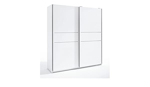 Mueble Armario ropero 2 Puertas correderas, Armarios Dormitorio Color Blanco ref-56: Amazon.es: Hogar