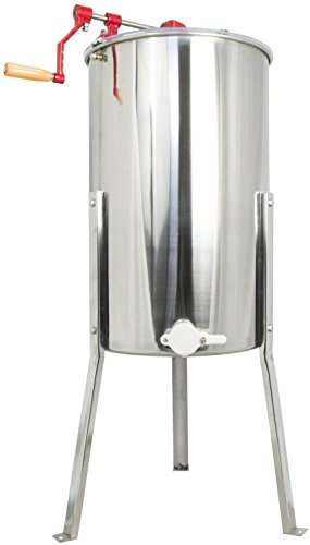 VIVO Large Three 3 Frame Stainless Steel Honey Extractor SS Model (BEE-V003D)