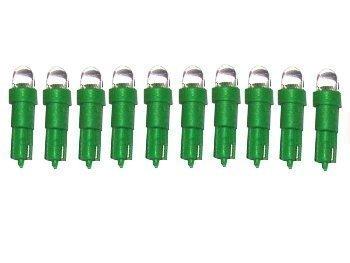 10 x Xenon LED Light BulbsT5 286 Instrument Dials SIngle LED GREEN (1 x 10 pack) Ultimatecarparts