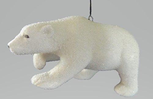 On Holiday Porcelain Polar Bear Christmas Tree Ornament.