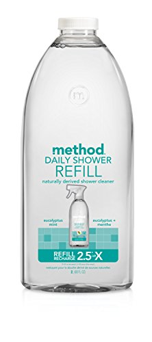 Method Naturally Derived Daily Shower Eucalyptus Mint Cleaner Refill, 68 Ounce