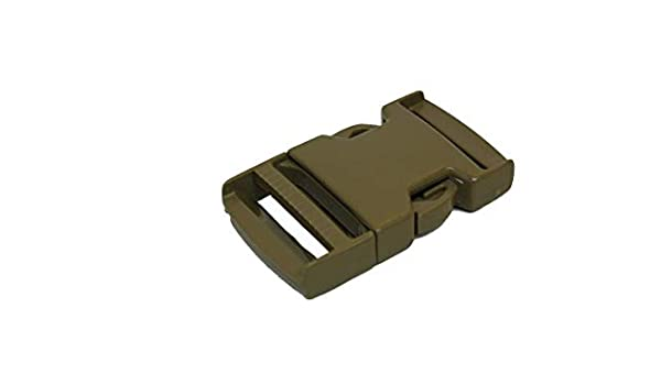 "1/"" Side Release Single Adjust Buckle COYOTE TAN BAG OF 45 pcs each"