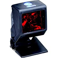 Honeywell MK3580-31A62 Quantum T Series 3580 Omnidirectional Laser Scanner Kit, Standard Square Weighted Base, 10.7 Straight Ruby Verifone Cable, Documentation, Black