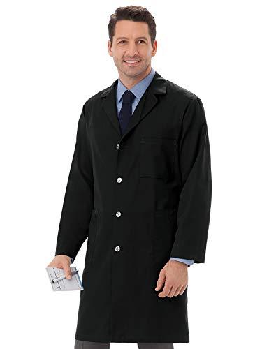 Meta 6116 Unisex Lab Coat Black M (Coat Colored Unisex Long Lab)