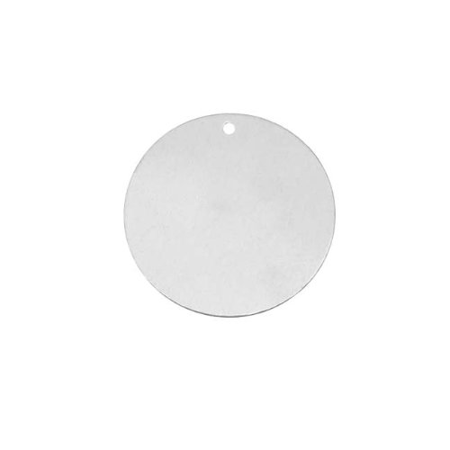 Beadaholique Silver Filled Blank Stamping 'Round Disk' Pendant 19mm (1)