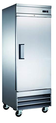 Alpha Chef Equipment Commercial Reach-In Freezer - 23 Cu.Ft. Stainless-Steel Single Solid Door