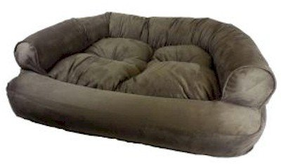 Snoozer Overstuffed Luxury Pet Sofa, Small, Pink by Snoozer