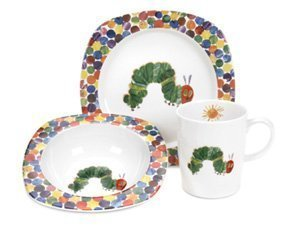 Portmeirion The Very Hungry Caterpillar 3 Piece Plate Bowl u0026 Mug Set by Portmeirion  sc 1 st  Amazon.com : hungry caterpillar plate set - pezcame.com