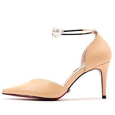 RTRY Zapatos De Mujer Microfibra Sintético Pu Primavera Verano Tacones Confort Bomba Básica Para Los Eventuales Nude Rojo Y Negro US8 / EU39 / UK6 / CN39