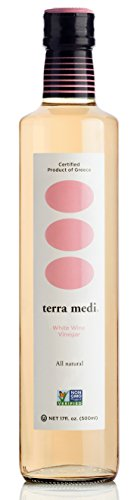 Terra Medi Greek White Wine Vinegar, 17 Ounce