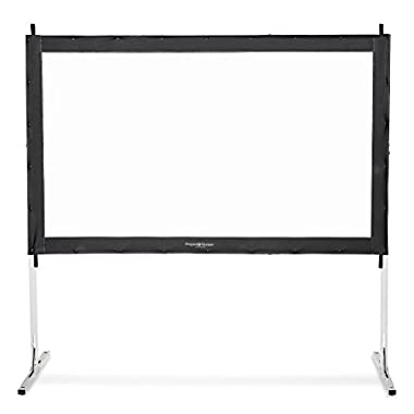 Visual Apex Projector Screen 120  4K Portable Indoor/Outdoor Movie Theater Fast-Folding Projector Screen with Stand Legs and Carry Bag HD 16:9 format