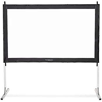 "Visual Apex Projector Screen 144"" 4K Portable Indoor/Outdoor Movie Theater Fast-Folding Projector Screen with Stand Legs and Carry Bag HD 16:9 format"