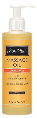 Bon Vital Original Massage Oil, 8 oz. Bottle with Pump ()