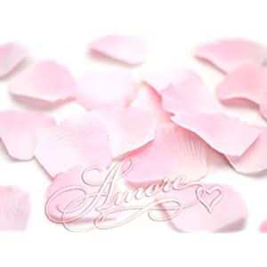 200 Wedding Silk Rose Petals Double Pink 2 inch Wide 48