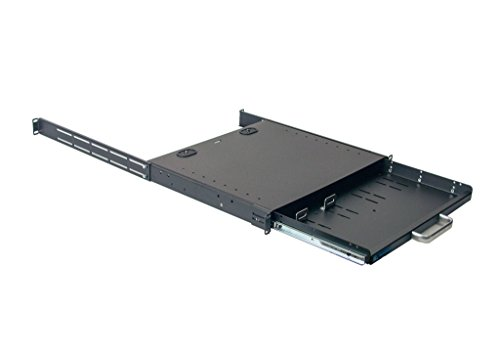 1U Compact rack mount keyboard drawer with retractable mouse pad for right or left hand operator supports 2 post and 4 post rack cabinet by IAENCLOSURES (Image #5)