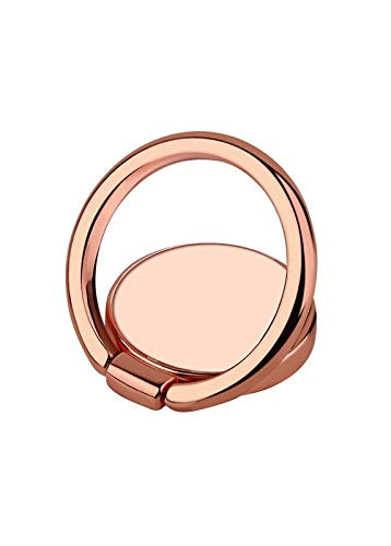 iDecoz Phone Ring Stand Universal Phone Ring Holder Kickstand. Works with iPhone Xs, iPhone Xs MAX, iPhone X, iPhone 8/8 Plus, iPhone 7/7 Plus and More (Rose Gold)