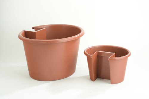 Combination Large and Small My Garden Post Planter (Terracotta)