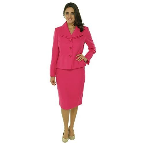 Hot Evan Picone Womens Work Smart 2PC Long Sleeves Skirt Suit