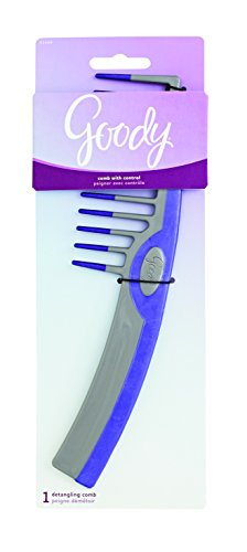 Goody Styling Essentials Hair comb, super with overlay & Dip (Assorted Colors)